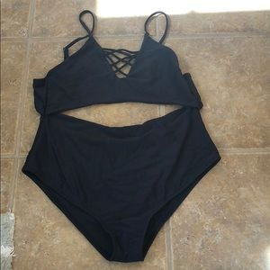 NEVER WORN 1 Piece High Waisted Bathing/Swimsuit